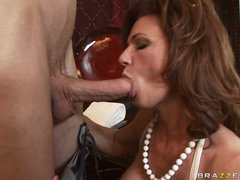 Deauxma is a sexy MILF who loves putting juicy schlong in her mouth