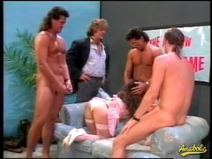 80s porn gangbang with curly hair girl