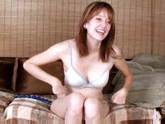 Milf with beads masturbating her clit