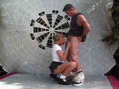 Outdoor recent slit corruption with confused blonde legal age teenager