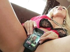For a sex junkie like Diana Doll, even a cellphone call takes on sexual undertones. When her phone rings it vibrates and that often means her 1st thought is to fuck it... long previous to this hottie ever thinks to answer it! Having her phone number is like foreplay with Diana!