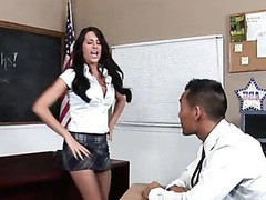 Teacher thinks it is time for his student to try a mature wang