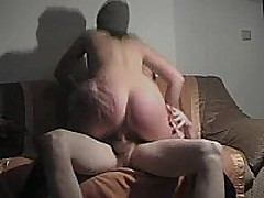 This german fuck floozy rides cock, sucks dick, and acquires slammed doggystyle and acquires a cum blast on her ass!!
