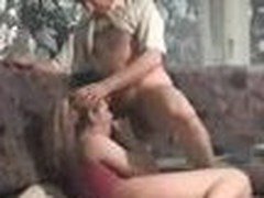 You will see here, all what should be: Valuable kissing, admirable blowjob, admirable fucking like riding and slamming her. After all, this babe tried also to be a `cowgirl`, but this babe was to unexperiented :-) So this chab had to slam her brain out in directly way and cum her in her nose.