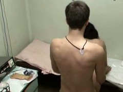 This nurse with full sticking tits could be fired if her boss discovered out that hottie was fucking with her patient in the physiotherapeutic room! Enjoy the spy video with horny cutie riding the dude and taking his shlong from behind!