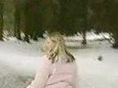 Wife and husband take a stroll and have strange intercourse in the woods. ends up cumming in her face! watch!