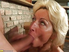 Stefana is a blonde older bitch that loves to sucks ramrods each time this babe can. Now this babe has in her throat a long dong that this babe sucks it very nice whilst this babe sitting on her knees. The younger guy is willing now to penetrate her deep so this guy begins fucking her cunt from behind making Stefana screaming of pleasure.