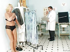Greta often visits her doctor to check her body. Whilst she reaches there her doctor ordered her to put all her clothes off and then this guy starts his pussy scrutiny right after this guy squeezes her nice boobs. You rally needs to watch where this doctor ends up his examination.