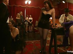 They are going to indulge into all kinds of stuff, things that nearly all males and almost all chicks want. Majority are afraid to express these feelings, but here all of these suppressed craves are fulfilled on the upper floor. Numerous acts of kinky sex, punishment, and depravity are enjoyed by participants.