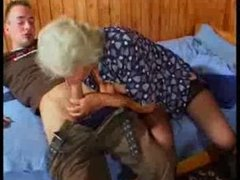 Breasty German Granny bonks youthful Guy