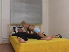 Blond Russian Drilled And Fisted