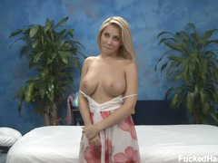 Blonde Madison bares her big boobs