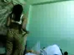 Indian housewife Bindu Chitta exposing nice pantoons and body on bed