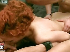 Horny guys call a cleaner and fuck her hard