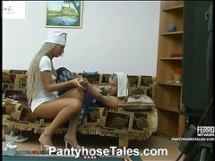 Sylvia&Tessa mindblowing pantyhose video