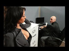 Johnny is trying to concentrate at work, but this guy can't assist but be distracted by his co-worker, Mya's big hot bra buddies and the provocative way that hottie dresses. Disappointed by his inability to pay attention at the office, this chab complaints to his supervisors. Angry and hurt, Mya uses her luscious big melons to persuade Johnny to take action that's not so legal...