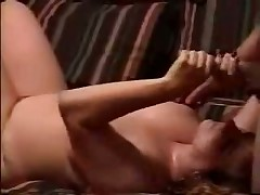 Watch sexual homemade video with obese doll jerking off hard dick and petting balls of her spouse until this guy discharges his hot cum on her huge boobs.