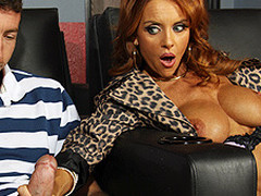 Janet walks into a XXX theatre for some intimate time, but her plans are foiled when Jordan walks in. That Babe is shy at first and has trouble masturbating with Jordan down the aisle doing the same thing, so this sweetheart gives a decision to fuck him instead.