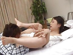 Pretty little nurse Ichika is at work. She has a normal day of work until this babe founds this dude jerking. The patient sees her and just now grabs her sexy body and goes on top of her. She struggles at the begging but soon founds out that this babe can't live out of it a lot. Some pussy rubbing was all this babe needed to spread her thighs