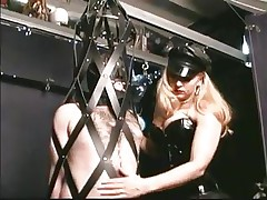 As soon as this chab steps into the dungeon the fellow barely waits for his mistress. Many guys love being dominated by sexy sluts and some travel a long way to acquire such a treatment. In the real world we put value on honor and pride, but those guys give it all away for some good butt spanking and weenie torture, check it out