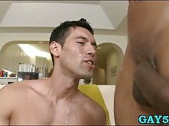 Hot homo stud loves to receive facial