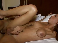 Sexy shemale implements her wild anal dreams