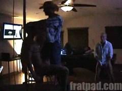 Spencer receives a randy disrobe from Payne