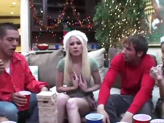 Awesome Group Sex In Christmas Party