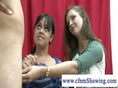 Cfnm angels horny for cum jerking cock during drawing classes