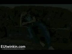 Aleksey jerking off his admirable twink shlong
