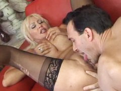 Milf climbs on top of the cock for a ride