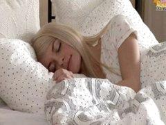 Diminutive blond legal age teenager Elena...