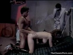 Excited girl in collar and leash fucked hard