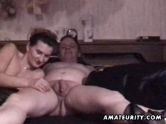 Mature amateur pair homemade hardcore act