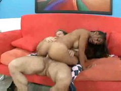 Charming Latin chick with taut body fuck and facial
