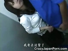 Oriental Teen Jizzed in WC!
