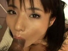 Blameless-looking Momo Jyuna will keep u hawt as that honey greedily sucks dong with her luscious mouth. That Babe has no qualms swallowing a big ramrod and play it with her tongue. This Japanese angel is taken to heaven whilst getting her constricted cunt screwed by an Oriental stud. Check out her delightful bushy wet crack being attacked by an angry dick