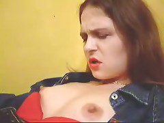 Watch now home-video of merciless brunette hair with big breasts and hard nipps getting plenty of incredible pleasure.