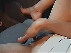 Cute slender girl with precious little pointer sisters spreads her legs in the front seat of her husbands car and fingers her self  that babe has precious perky pointer sisters and hard nipples, precious vocal,   good to watch