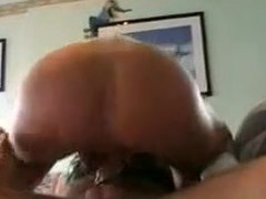 This gal is taking a strap-on marital-device in her ass. Her hubby fills her wazoo with it hard. Then she sucks his ramrod and finishes with his dick in her pussy