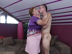 Elisia is a chubby aged bitch that needs some love from her boy. That babe approach him and the start to kiss passionately and get naked. soon Elisia finds herself beneath her guy and he squeezes her large soft whoppers during the time that kissing them. Will Elisia receive a few loads of jizz in her cookie or on her boobs?