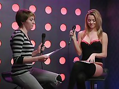 2 sexy gals speak live about sex in a jewish manner. They are broke and trying to buy something, but don`t have enough money. These jokes about sex are indeed turning 'em on. Besides looking for Mr. Right, the blonde desires to go down on her girlfriend for some money. This chick takes her brassiere off, it`s so hot.