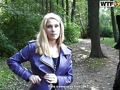 Doesn't that babe knows the forest can be a dangerous place for such a pretty slut? This babe finds out when this guy approaches and gropes her breasts and ass. After playing with her body that babe kneels in front of him and starts giving head with pleasure, taking it as deep as that babe can. Are u going to see her face covered in cum?