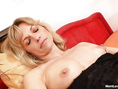 Joanna loves her vibrator and shows us what she can do with it. That babe spreads her hawt legs and then rubs and fingers her cunt before inserting that sex toy in her fur pie from behind making us horny. That babe is all alone, masturbating with lust and we hope to watch her getting fucked from behind by a real cock.