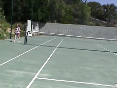 She is out on the tennis court on a bright, warm and sunny day. it makes her very hot and willing to shed her clothes to get rid of her heat. this babe receives into the shower to reveal a pair of zeppelins that can drive a man crazy and an arse that is a enjoyment to look at. coach is going to have a fun her body.