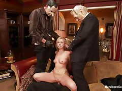 Hot golden-haired slut Zoey receives fucked hard by five lewd chaps with face masks. This honey is recorded, during the time that her taut holes are getting filled with big hard dicks by turns. This honey groans with pleasure and craves more and more. This honey opens her face hole to engulf it deep. Who will cum first, she or they?