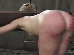 That perfect booty merited a nice beating solely that the executor crossed the line and bruised it. Look at it how screwed up it is, would you like to fuck an booty like that? Of course you will, it's hotter! Sara is a blonde slut that enjoys being spanked until her booty turns red and purple, wanna see what else that chick likes?