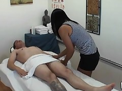 Dude receives double pleasure from massage and sex