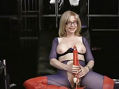 Nina Hartley loves tormenting her soaked moist slot