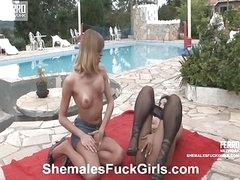 Bia&Anita shemale dicking angel on video